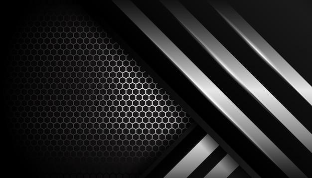 Silberner hexagonsportluxushintergrund