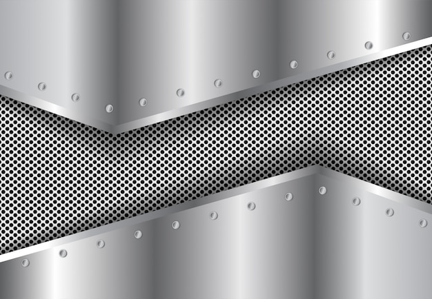 Silberner hintergrund der steigung des metall 3d