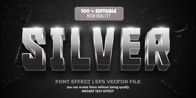 Silberner texteffekt bearbeitbarer glänzender und eleganter textstil