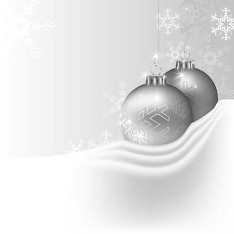 Silberner weihnachtshintergrund von zwei flitter