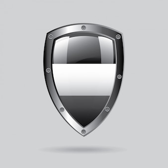 Silbernes emblem