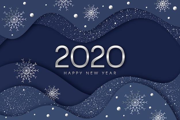 Silbernes hintergrundkonzept des neuen jahres 2020