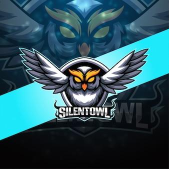 Silent owl esport maskottchen logo design