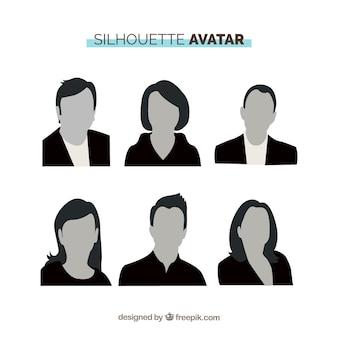 Silhouette avatare mit professionellen stil