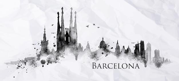 Silhouette barcelona stadt