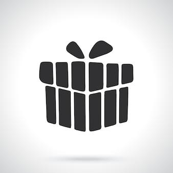 Silhouette der geschenkbox vorlage oder muster vektor-illustration