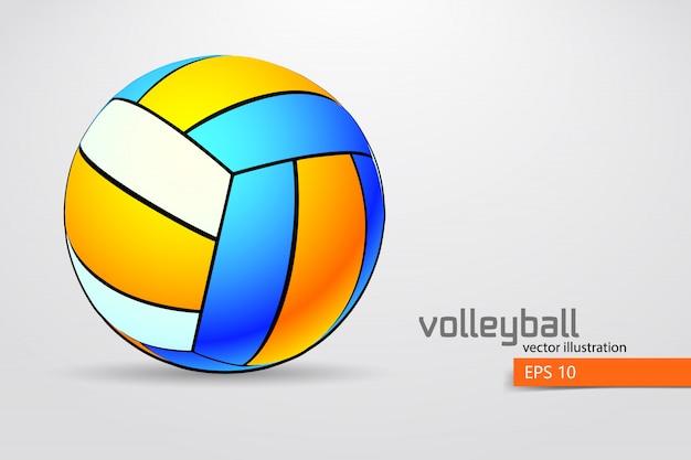 Silhouette des volleyballballs.
