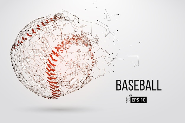 Silhouette eines baseballballs