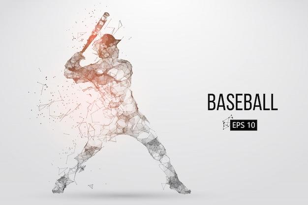 Silhouette eines baseballspielers. vektorillustration