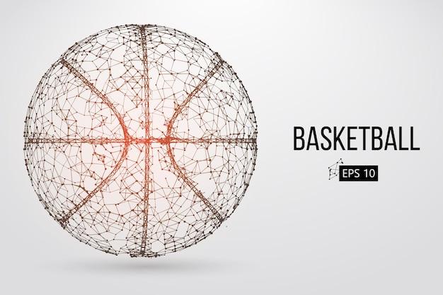 Silhouette eines basketballballs