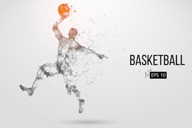 Silhouette eines basketballspielers. vektorillustration