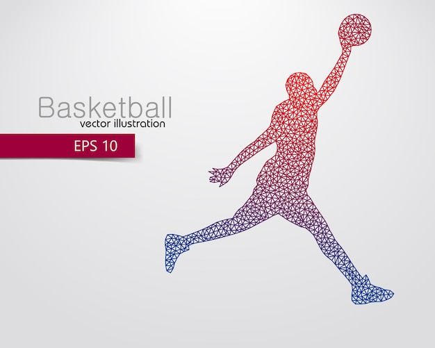 Silhouette eines basketballspielers