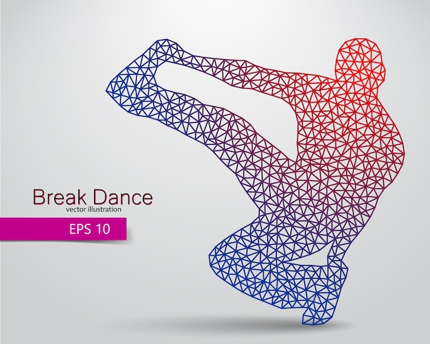 Silhouette eines breakdancers