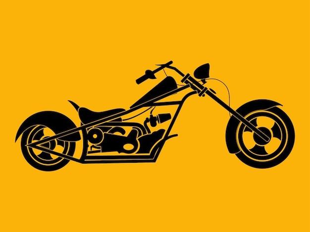 Silhouette eines fahrrad chopper