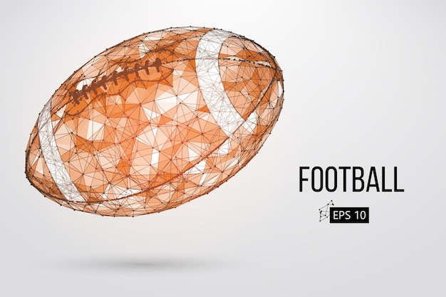 Silhouette eines fußballballs