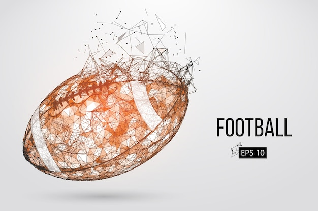 Silhouette eines fußballballs Premium Vektoren
