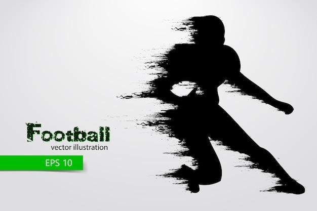 Silhouette eines fußballspielers. rugby. american football. illustration