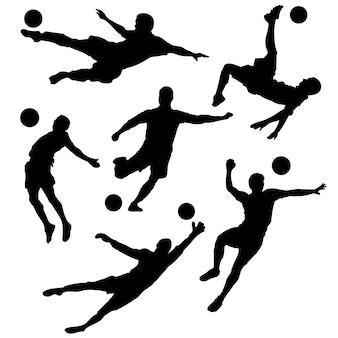 Silhouette eines fußballspielers