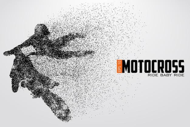 Silhouette eines motocross-fahrers