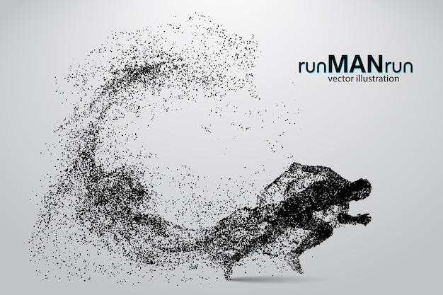 Silhouette eines rennenden mannes