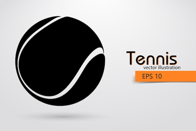 Silhouette eines tennisballs
