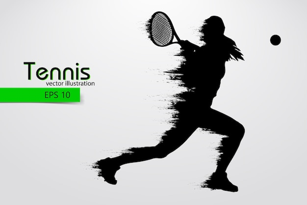 Silhouette eines tennisspielers