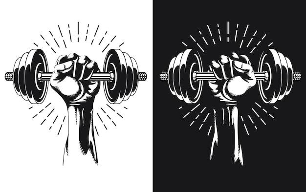 Silhouette hand workout verstellbares gewicht hanteln