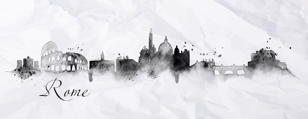 Silhouette rom stadt