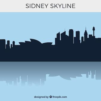 Silhouette sidney skyline hintergrund