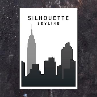 Silhouette skyline abbildung