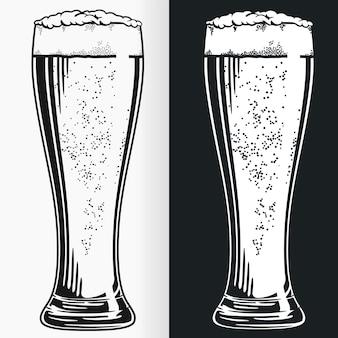 Silhouette tall pilsner bierglasschablone