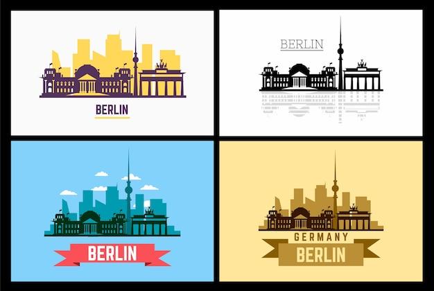 Silhouette und illustration von berlin