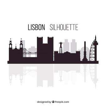Silhouette von lissabon
