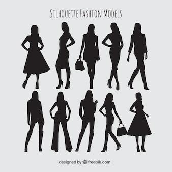Silhouetten mode-modelle sammlung