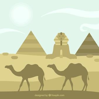 Silhouetten von ägypten