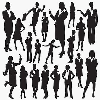 Silhouetten von business-frauen