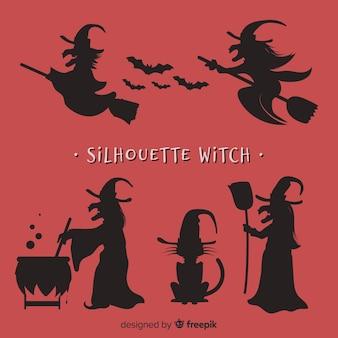 Silhouetten von hexen