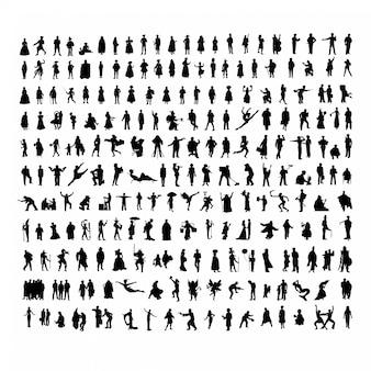 Silhouetten von menschen