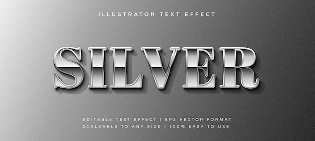 Silver chrome text style schrifteffekt