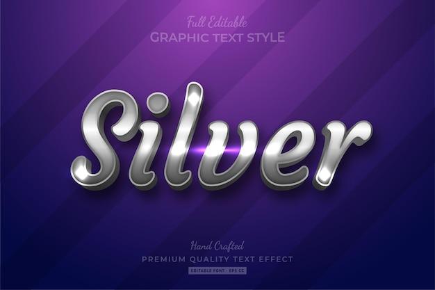 Silver shine bearbeitbarer schriftstil für texteffekte
