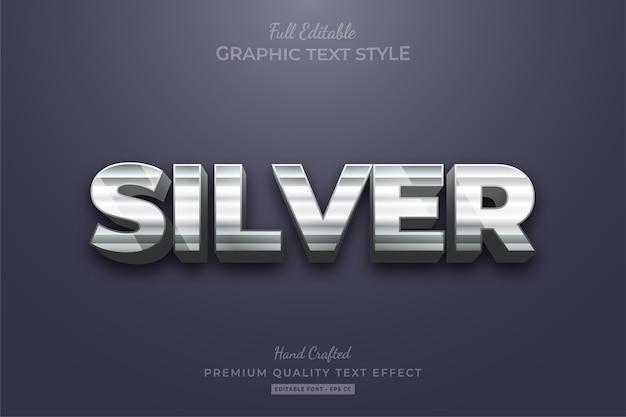 Silver strip editable text style effekt premium