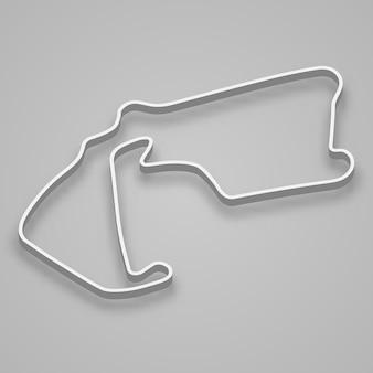 Silverstone circuit für motorsport und autosport. grand-prix-rennstrecke in großbritannien.