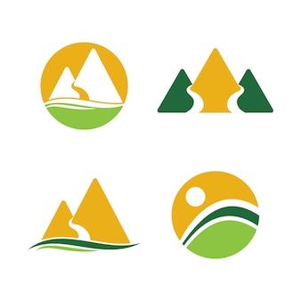 Simple mountain logo symbol unternehmen