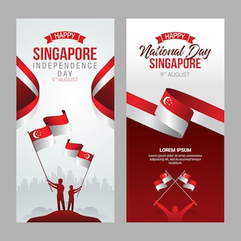 Singapore independence day grußkarte