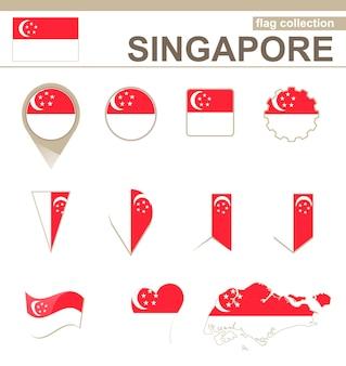 Singapur flaggenkollektion, 12 versionen