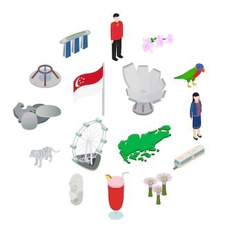 Singapur-ikonensatz, isometrische art