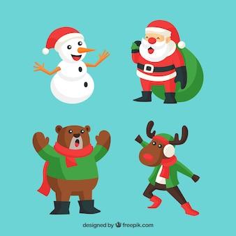 Singende weihnachtsfiguren
