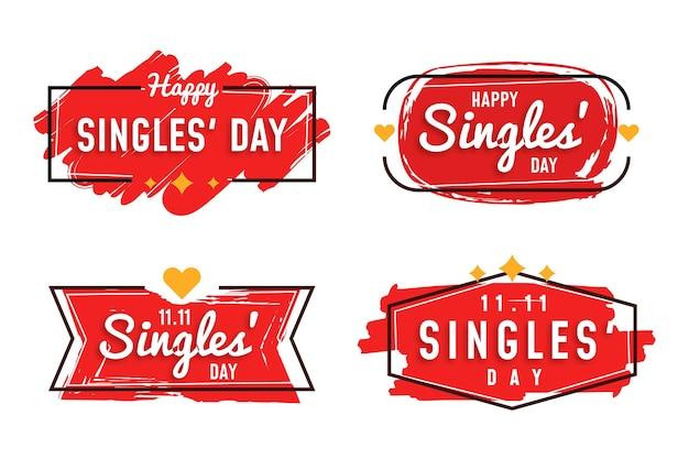 Singles day abzeichen sammlung