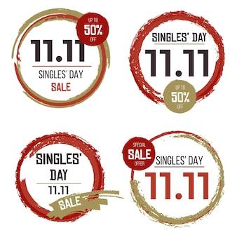 Singles 'day labels konzept