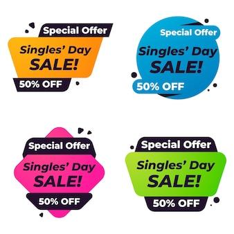 Singles 'day labels sammlung